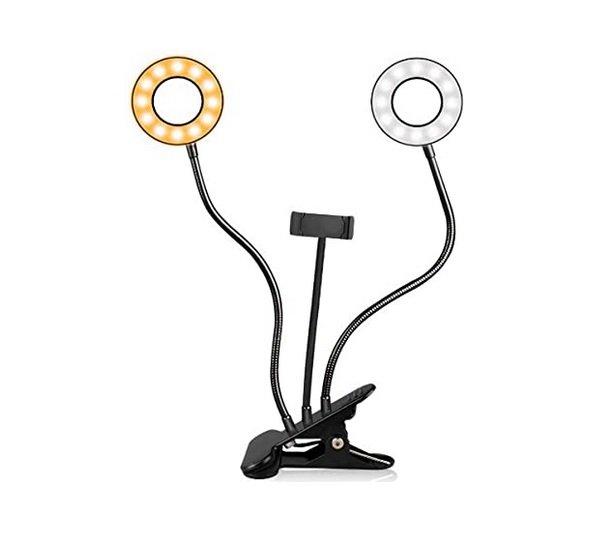 LED RING LIGHT  DUPLO + ADAPTADOR SMARTFONE PARA LIVES