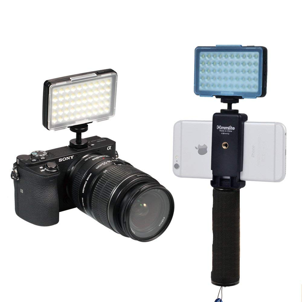 Luz de LED com Suporte para Celular
