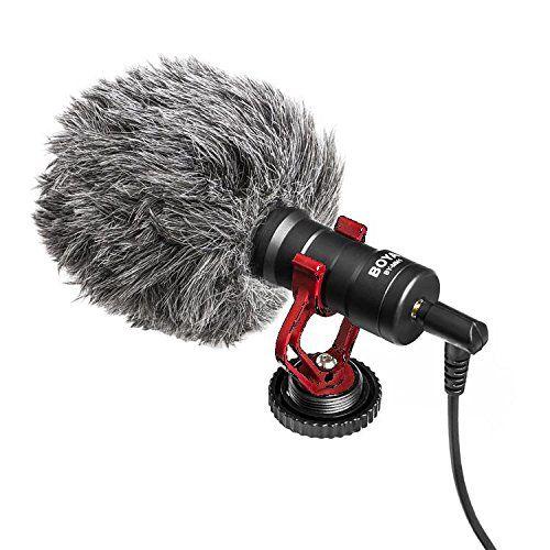 Microfone Direcional Boya By-mm1 – Para Câmeras E Celulares