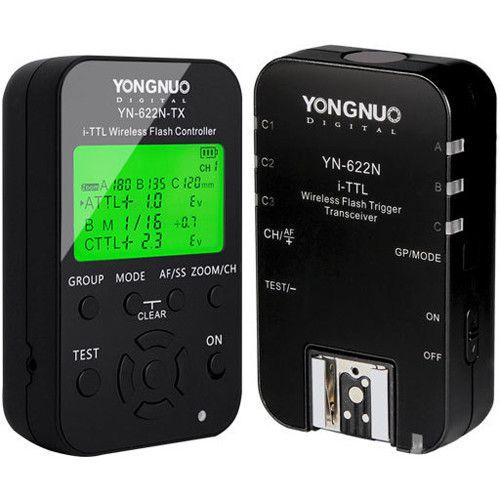 Yongnuo YN-622N i-TTL Transceptor de Flash Sem Fio e Kit Controlador TX para Nikon