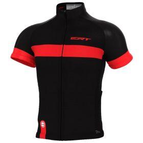 Camisa Ciclismo Ert Nova Tour Stripe Black Red Mtb Speed