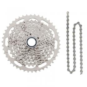 Cassete Bike Shimano Deore M4100 10v 11/46 + Corrente Shimano 10v
