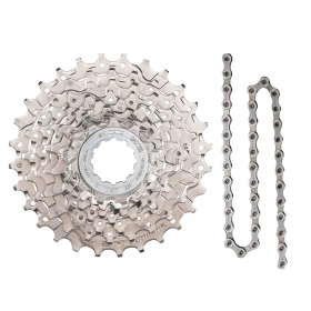 Cassete Bike Shimano Hg400 9v 12/36 + Corrente Shimano 9v