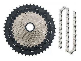 Cassete Bike Shimano Slx M7000 11v 11/46 + Corrente Shimano 11v