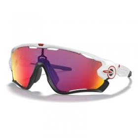 Óculos Ciclismo Oakley Jawbreaker Polished White Prizm Road