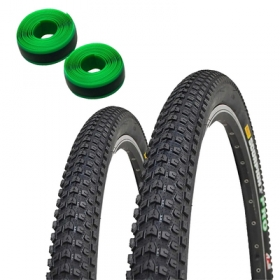 Pneus de Bicicleta Pirelli Scorpion Pro 29 x 2.20 Mtb Kevlar Par + Fitas Anti Furo