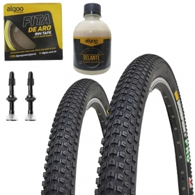 Pneus de Bicicleta Pirelli Scorpion Pro 29 x 2.20 Mtb Par + Fita Tubeless + Selante + Válvulas