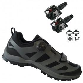 Sapatilha Ciclismo Cicloturismo Absolute Trail II + Pedal Wellgo M919