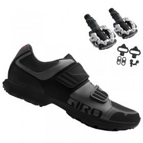 Sapatilha Giro Berm Cicloturismo Mtb + Pedal Shimano M520