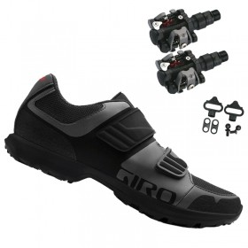 Sapatilha Giro Berm Cicloturismo Mtb + Pedal Wellgo M919