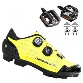 Sapatilha Mtb Ciclismo Absolute Prime II Amarela + Pedal Shimano T421