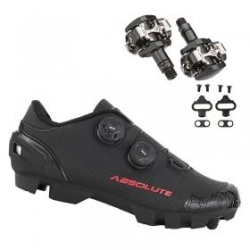 Sapatilha Mtb Ciclismo Absolute Prime II Preta + Pedal Shimano M505
