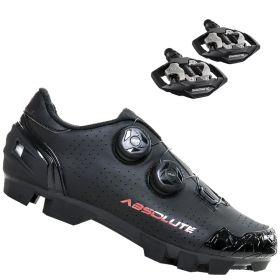 Sapatilha Mtb Ciclismo Absolute Prime II Preta + Pedal Shimano M530