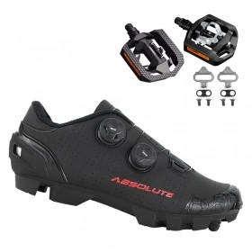Sapatilha Mtb Ciclismo Absolute Prime II Preta + Pedal Shimano T421