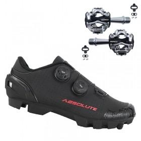 Sapatilha Mtb Ciclismo Absolute Prime II Preta + Pedal Zeray ZP108S
