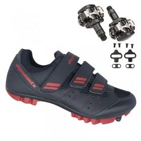 Sapatilha Mtb Ciclismo Dynamix Kanya Vermelha + Pedal Shimano M505