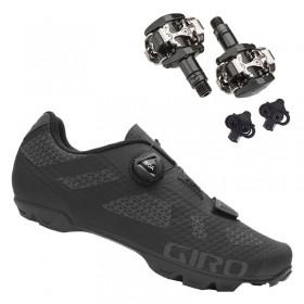 Sapatilha Mtb Ciclismo Giro Rincon Preta + Pedal Shimano M505
