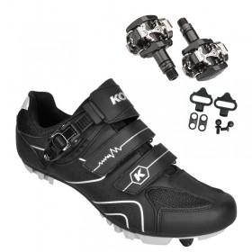 Sapatilha Mtb Ciclismo Kode Attack Preta + Pedal Shimano M505