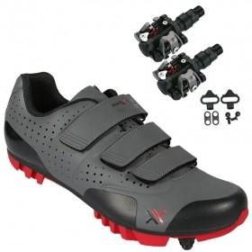 Sapatilha Mtb Ciclismo Mattos Tt II Vermelha + Pedal Wellgo M919
