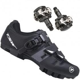 Sapatilha Mtb Ciclismo Tsw Cave II + Pedal Shimano M505