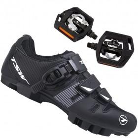 Sapatilha Mtb Ciclismo Tsw Cave II + Pedal Shimano T421