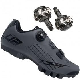 Sapatilha Mtb Ciclismo Tsw Smart II Cinza + Pedal Shimano M505