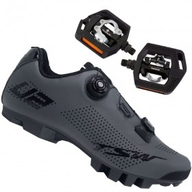 Sapatilha Mtb Ciclismo Tsw Smart II Cinza + Pedal Shimano T421