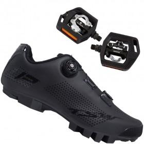 Sapatilha Mtb Ciclismo Tsw Smart II Preta + Pedal Shimano T421