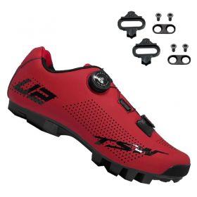 Sapatilha Mtb Ciclismo Tsw Smart II Vermelha + Tacos Mtb