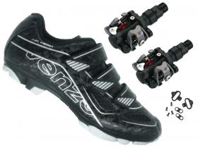 Sapatilha Mtb Ciclismo Venzo Evo Vsx Preto + Pedal M919