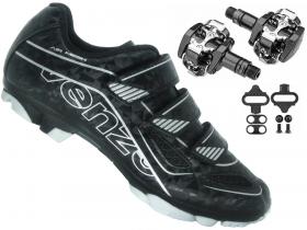 Sapatilha Mtb Ciclismo Venzo Evo Vsx Preto + Pedal Shimano M505