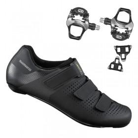 Sapatilha Speed Ciclismo Shimano Sh - RC100 + Pedal Wellgo R096B