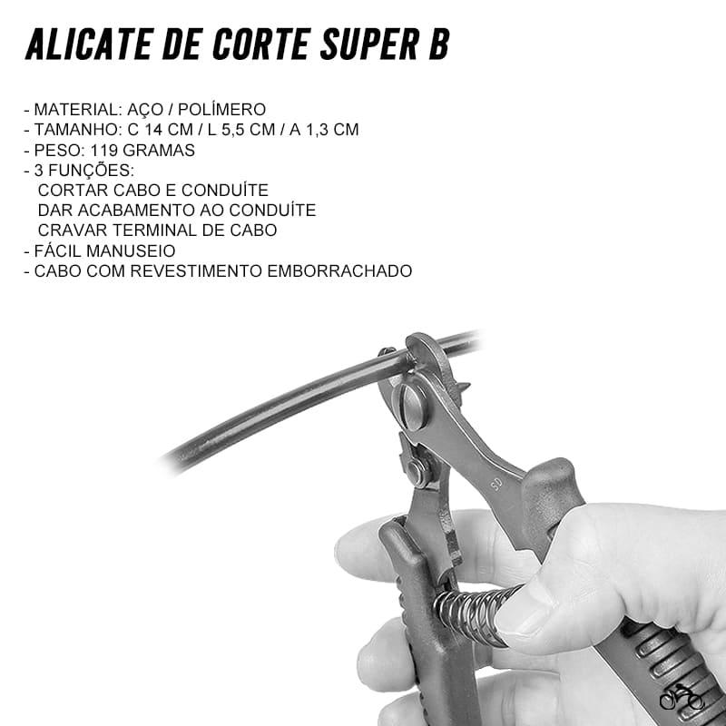 Alicate para Cortar Cabos e Conduítes Super B TB-4574 Mtb Speed