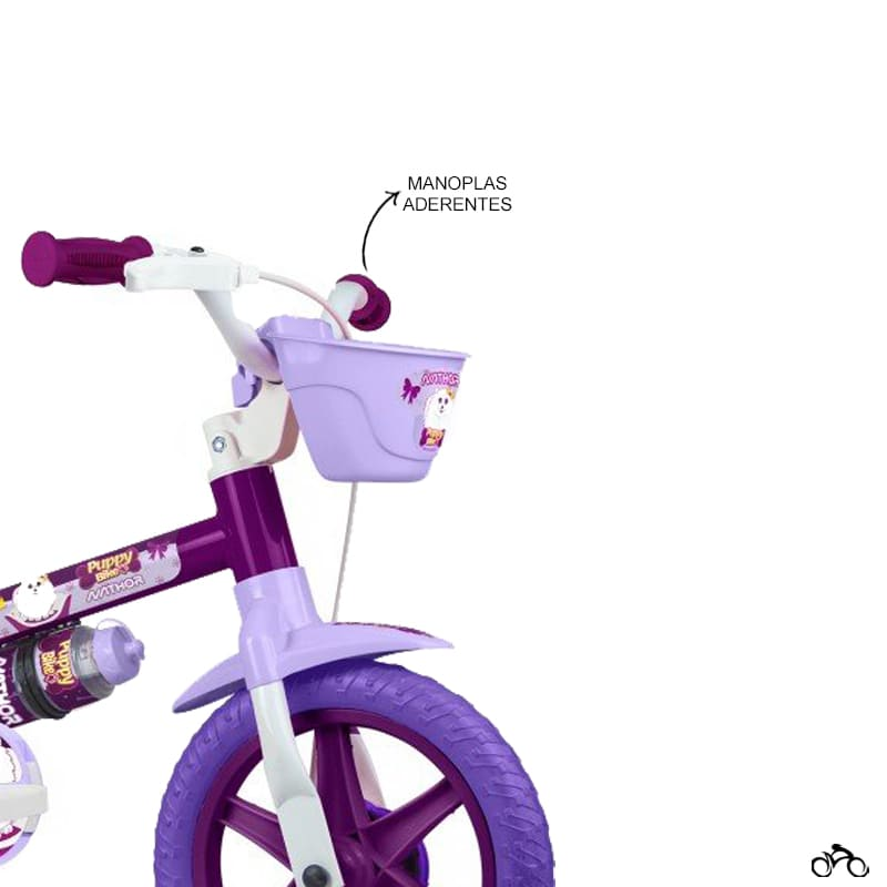 Bicicleta Infantil Nathor Puppy Aro 12