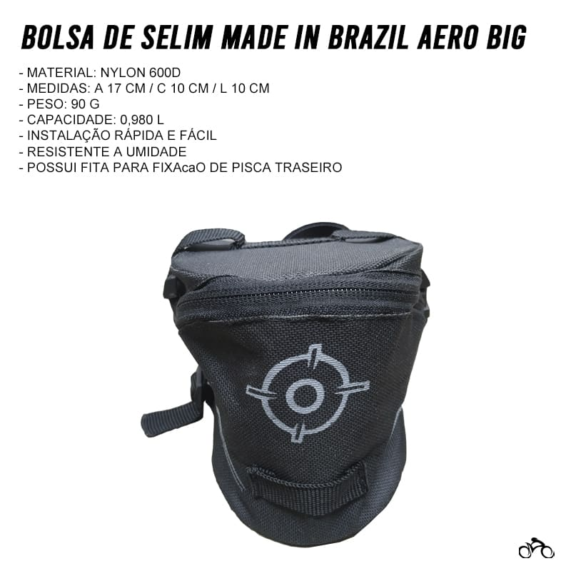 Bolsa de Selim Made in Brazil Aero Big Mtb Speed