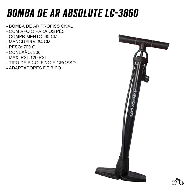 Bomba de Bicicleta Absolute LC-3860 de Oficina Mtb Speed