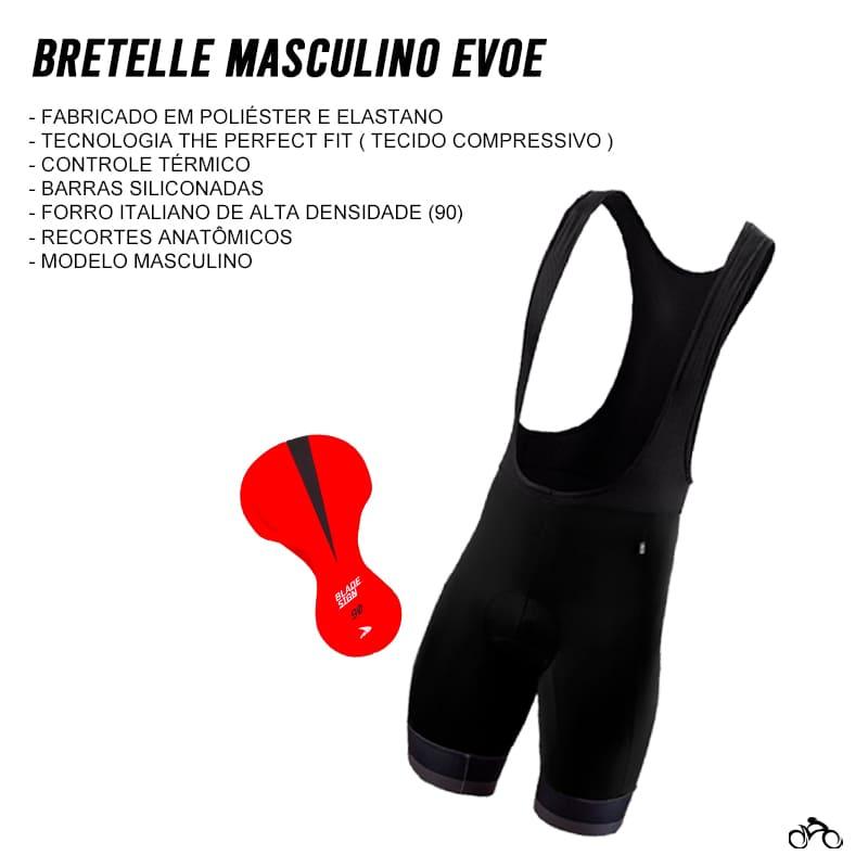 Bretelle Ciclismo Masculino Evoe Preto Mtb Speed