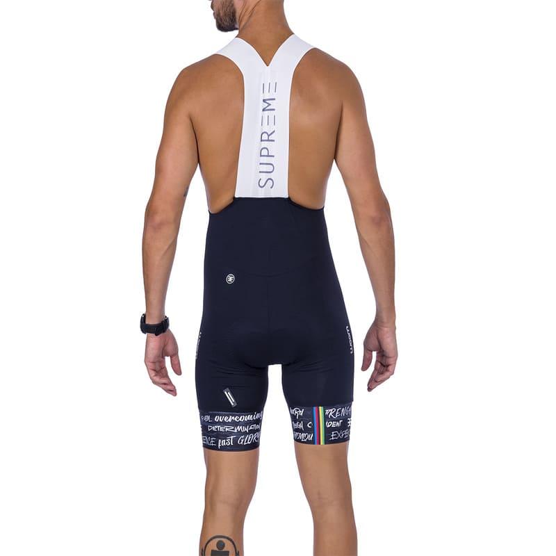 Bretelle Ciclismo Masculino Woom Supreme 2021 Preto e Branco