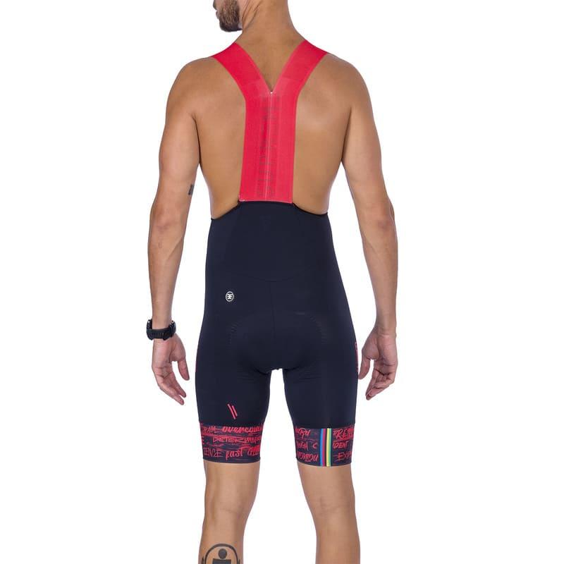 Bretelle Ciclismo Masculino Woom Supreme 2021 Preto e Vermelho