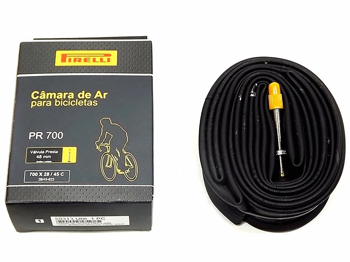 Câmara de Ar Bicicleta 700x28/45C Pirelli Válvula Presta 48mm Speed