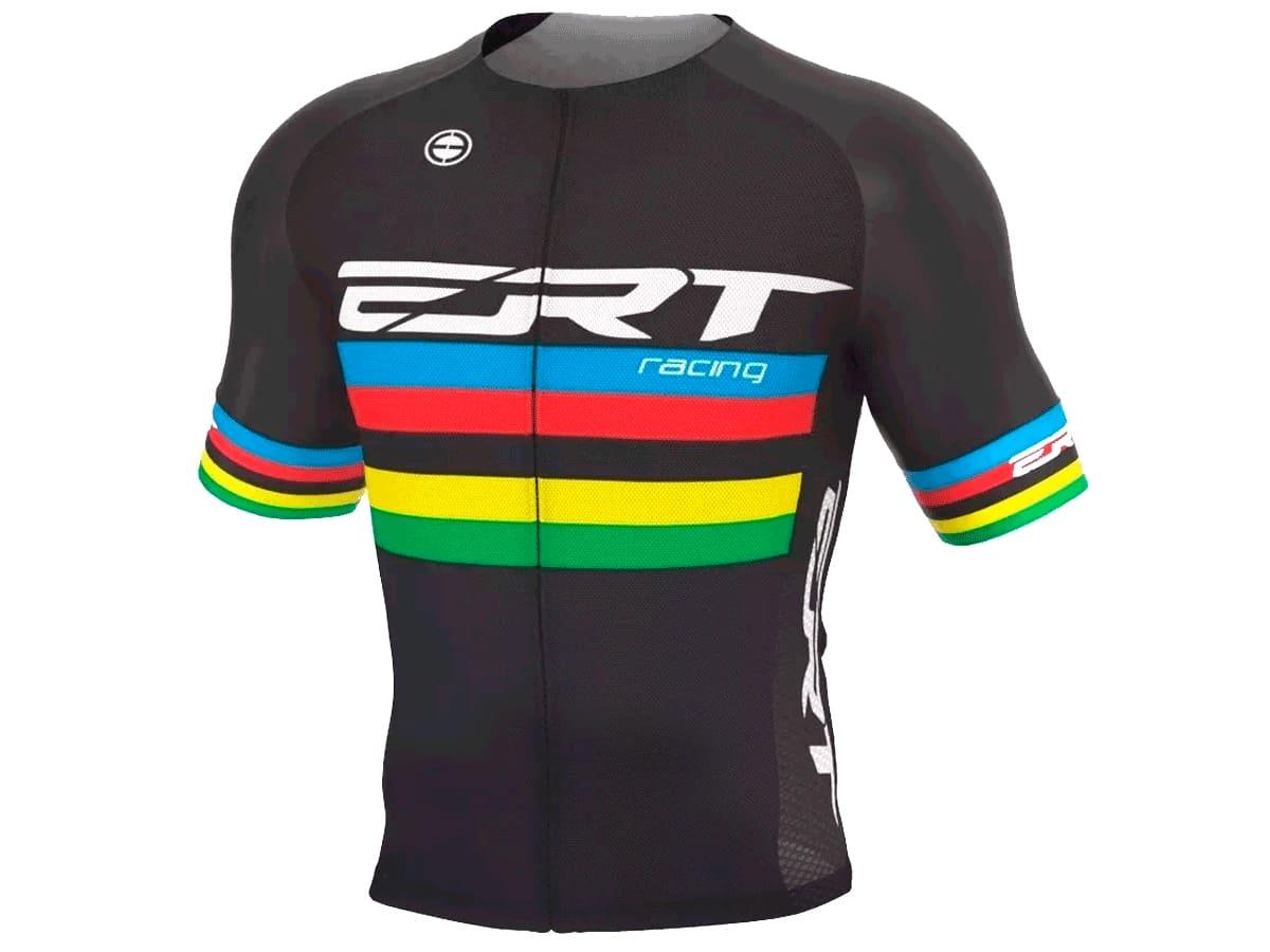 Camisa Ciclismo Ert Elite Campeão Mundial Preta Mtb Speed