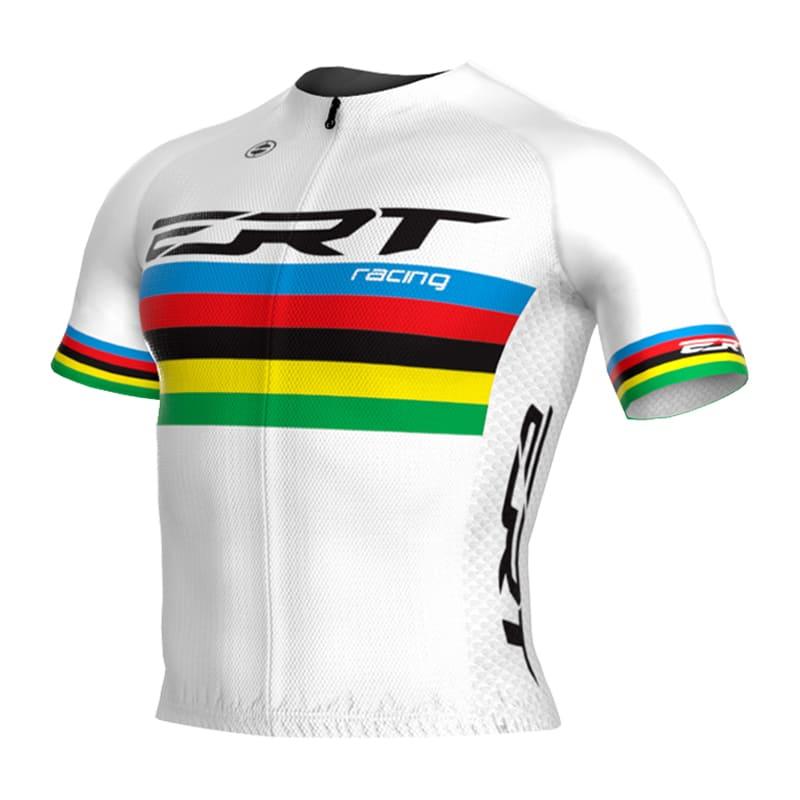 Camisa Ciclismo Ert Nova Elite Campeão Mundial Branca Mtb Speed