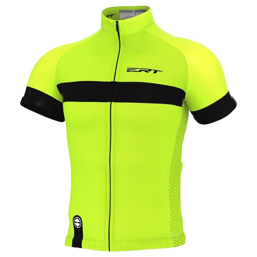 Camisa Ciclismo Ert Nova Tour Stripe Green Mtb Speed