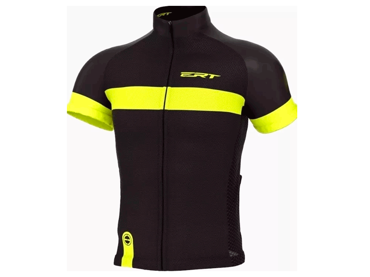 Camisa Ciclismo Ert Tour Strip Black Mtb Speed