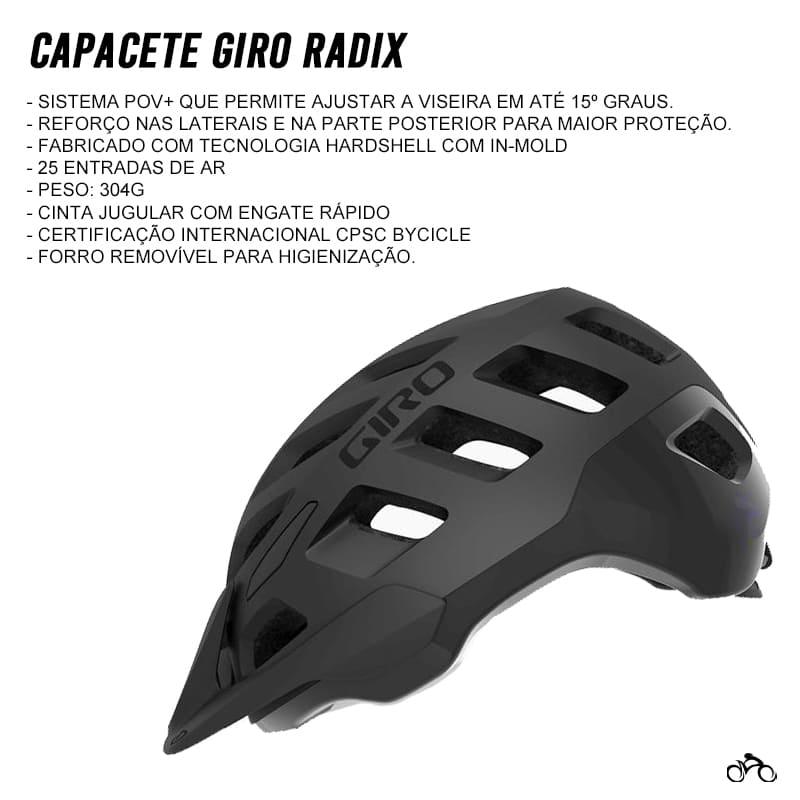 Capacete Ciclismo Giro Radix Bicicleta Mtb Speed