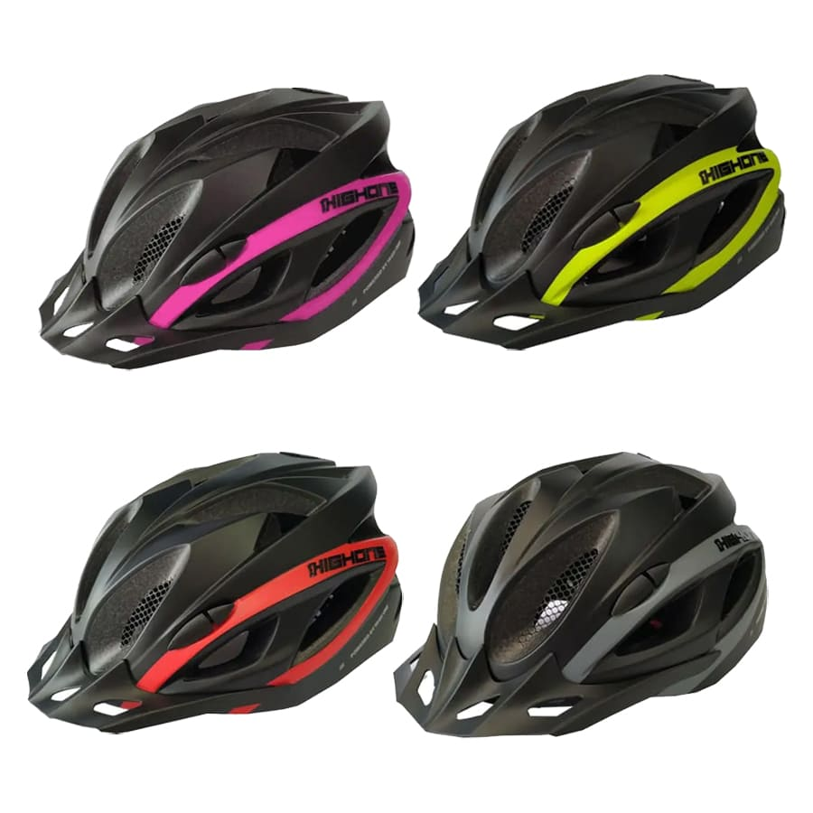 Capacete Ciclismo High One Win com Pisca Led Bicicleta Mtb Speed