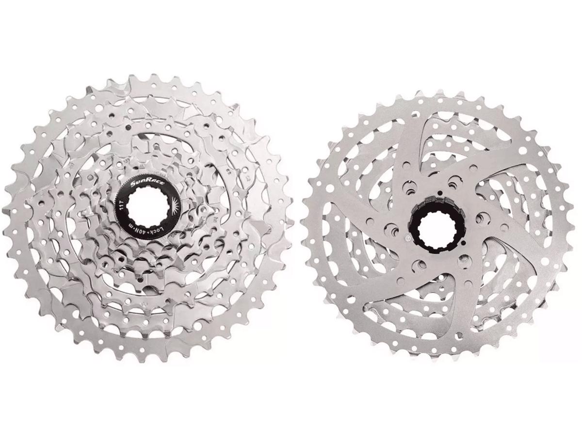Cassete Bike Sunrace M680 8v 11/40 + Corrente Sunrace 8v