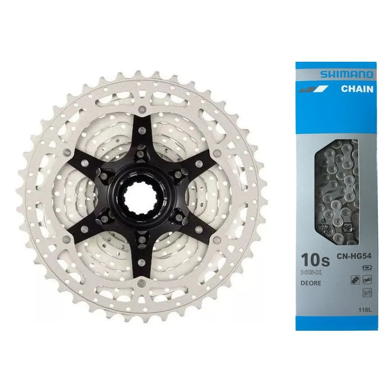 Cassete Bike Sunrace Ms3 10v 11/42 + Corrente Shimano 10v