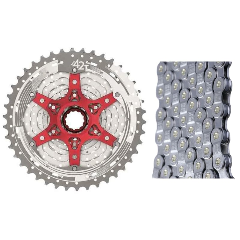 Cassete Bike Sunrace Mx3 10v 11/42 + Corrente Tec 10v