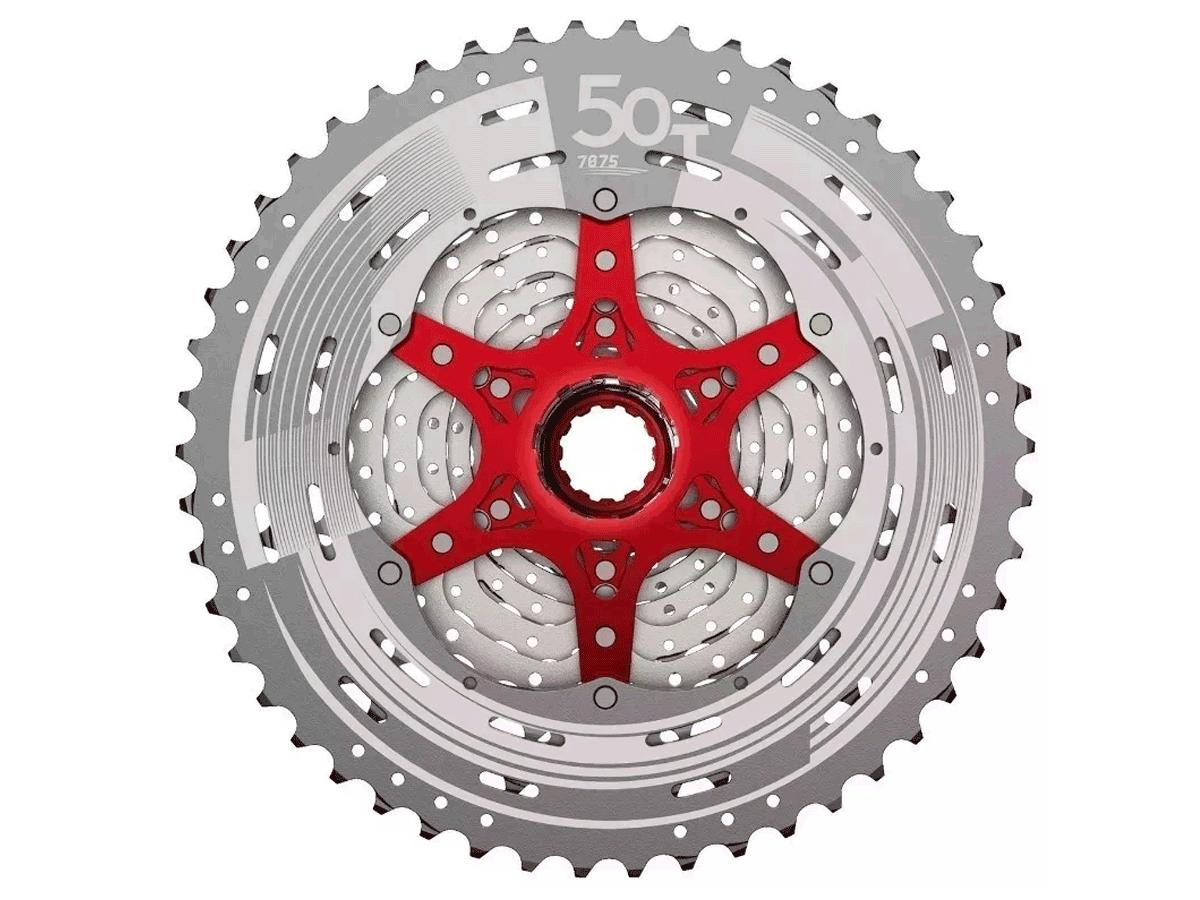 Cassete Bike Sunrace Mz90 12v 11/50 + Corrente Sunrace 12V